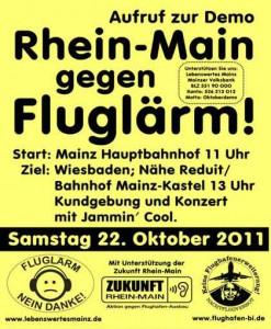 Anti-Fluglärmdemo Wiesbaden 22.10.2011