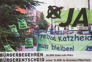 Bürgerbegehren Katzheide. Foto: JZ