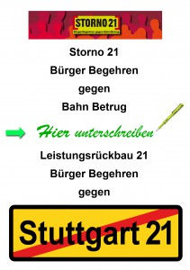 3. und 4. Bürgerbegehren gegen Stuttgart-21 / S21