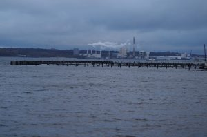 Blick von der Kielinie (Wik) auf das Gaskraftwerk (Dietrichsdorf)