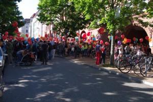 Demo Aufwertung Sozialberufe Legienstraße