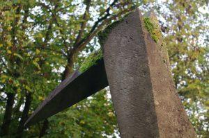 Drei Vogelsäulen (für Borgfelde) - Skulpturengruppe von Klaus Becker (Kopf-Ausschnitt)