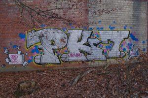 Graffiti am NOK in Kiel-Wik