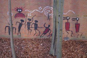 Graffiti am NOK nahe Projensdorfer Straße in Kiel-Wik