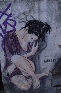 Graffiti im Gängeviertel in Hamburg