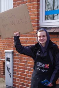 Herrlich: Ich koche vor Wut - Demo in Kiel für ein JA beim Bürgerentscheid am 23.3.