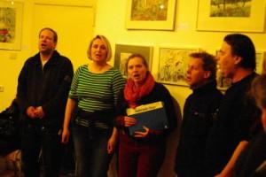Impression von Ausstellungseröffnung Die Grüne Lunge der Stadt: Aubrook-Chor mit altem Liedgut