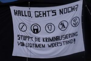 Antiatomcamp Kiel: Anti-Repressionstransparent