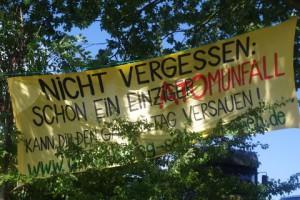 Antiatomcamp Kiel: Atomunfall-Transparent