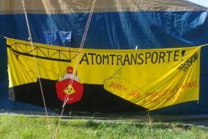 Antiatomcamp Kiel: Atomtransporte-NOK-Transparent