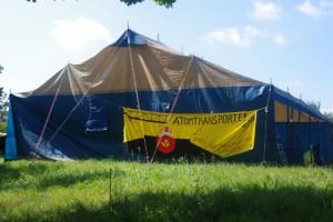 Antiatomcamp Kiel: Essenszelt