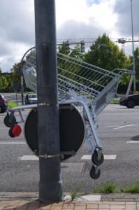 Konsumverzicht mal anders - gefunden in Kiel-Gaarden.