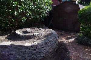 Trockenmauer-Spiralelement