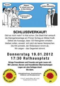Kiel 19-1-2012 Aktion Möbelkraft-Schlussverkauf