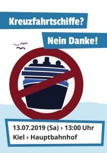 Kreuzfahrtschiffe - Nein Danke! Demo 19. Juli 2019 in Kiel.