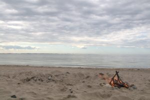 Lagerfeuer Ostsee