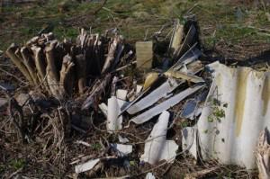 Müll - Asbestverdacht im Prüner Schlag in Kiel