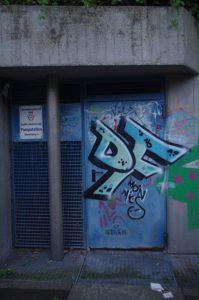 Pumpstation der Stadtentwässerung am NOK mit Graffiti