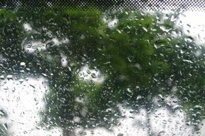 Regen hinter Autoglas