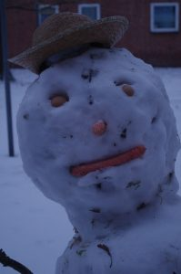 Schneemann am Ostring