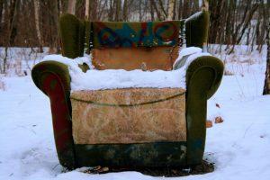 Sessel im Schnee - Foto von Rosa Thiemer