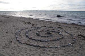 Stein-Spirale zur Sonnenwende