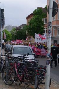 Streikdemo Sozialberufe Legienstraße