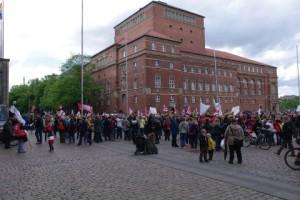 Streikdemo Sozialberufe Rathausplatz