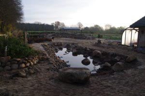 Teichbau - Bauphase