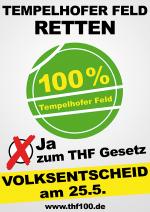 Tempelhofer Feld in Berlin: Ja beim Volksentscheid am 25. Mai 2014