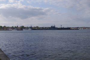 Tirpitzhafen Kiel - eine der Verdachtsflächen in Schleswig-Holstein für die Verseuchung durch Löschschaum.