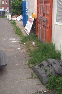 Vonovia-Baustelle in Gaarden - Fußweg leider nicht mehr benutzbar für Rollis...