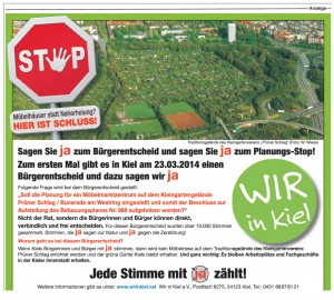 WIR in Kiel: JA beim Bürgerentscheid!