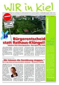 WIRinKiel Zeitung zum Bürgerentscheid am 23.3. in Kiel räumt mit dem Arbeitsplatzmärchen auf