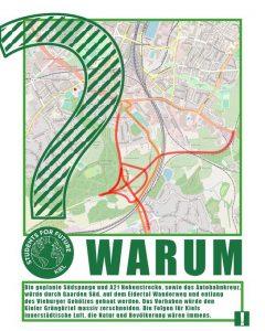 Wald statt Asphalt - Kunstaktion gegen Südspange und Ausbau der A21