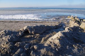 Wasserschaden bei Laboe: beginnende Erosion