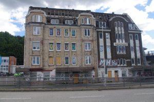 Werftstraße in Kiel: verfallendes Haus