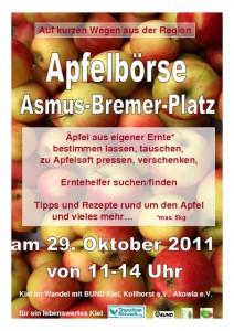 Apfelbörse Kiel 29.10.2011 Asmus-Bremer-Platz