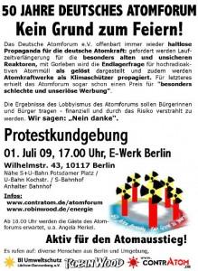 Protestkundgebung Atomforum 01.07.2009 Berlin