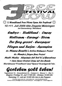 Free-Flow-Festival 10. und 11. Juli Mützingen