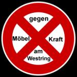 Gegen Möbelkraft am Westring