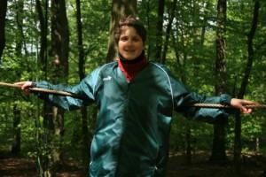 Kletteraktivistin Cecile Lecomte
