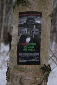 Protest gegen Abholzungen in Kiel