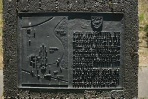 Gedenkstein auf dem ehemaligen Lager Nordmark in Kiel-Hassee