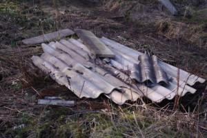Offene Lagerung von asbesthaltigen Abfällen im Prüner Schlag in Kiel im Auftrage von Möbel Kraft / Krieger.