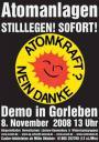 Bundesweite Anti-Atom-Demonstration, 8. November 2008, Gorleben