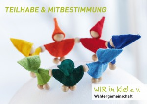 P ostkarte von WIR in Kiel zu Mitbestimmung und Teilhabe